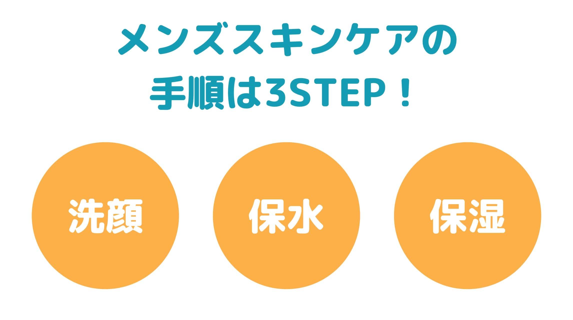 【簡単】メンズスキンケアの基本手順は3STEP